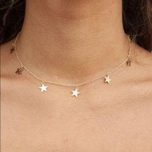 Brandy Melville Gold Star Choker Necklace